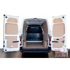Paneles laterales interiores madera DM FIAT DOBLO 10-- FURGON 2755 C, L1-H1, DOS P.L.C., PTAS. TRASERAS, TECHO ESTANDAR, PARTE SUPERIOR DEL VEHICULO