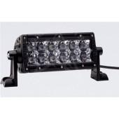 "JUEGO FAROS E-SERIES - 2 FILAS de LED 6"" (15cm) - 12 LEDS (2370 Lumens) - 12/24V - FLOOD (Faro de expansión)"