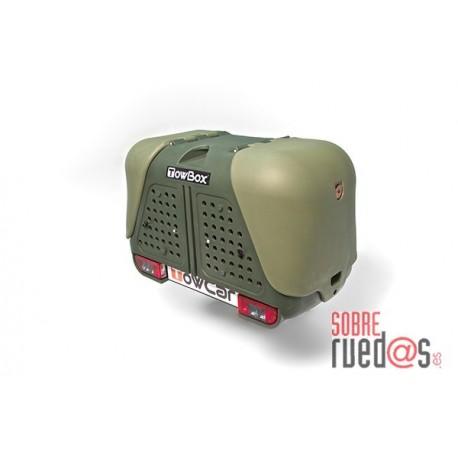 Cofre trasero porta-perros Towbox V2 Dog Gris/Blanco. Envío Incluido