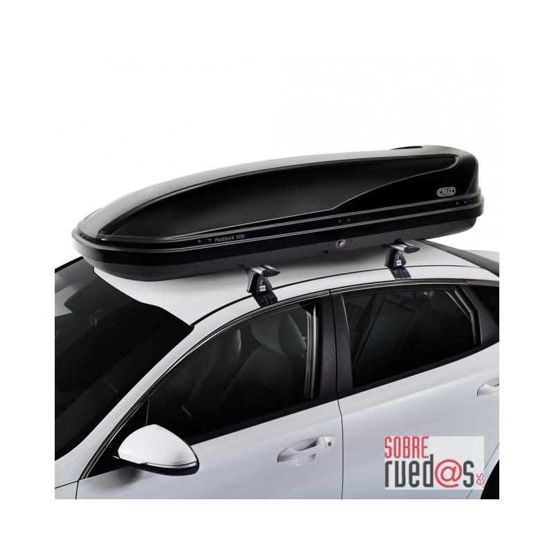 Cofre cruz paddock 500 negro 500l doble apertura env o incluido sobreruedas comunicaci n s l - Cofre techo coche ...