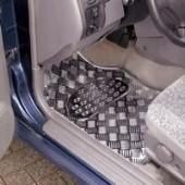 Juego de Alfombras PVC imitación aluminio. 4 piezas